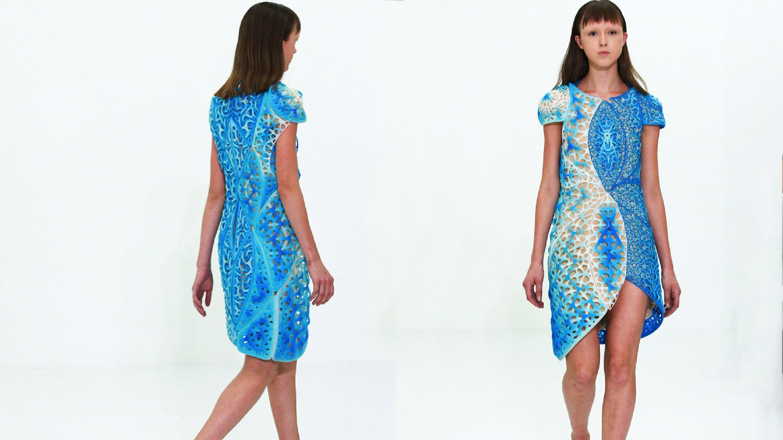 3D Printed Oscillation Dress Debuts at NY Fashion Week