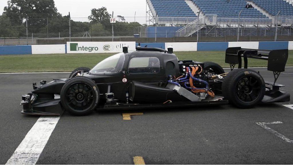 Driverless Racing Car Speeds around Racetrack