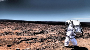 Volunteers Emerge after spending a year in a Sealed Dome as part of a Simulated Mars Mission