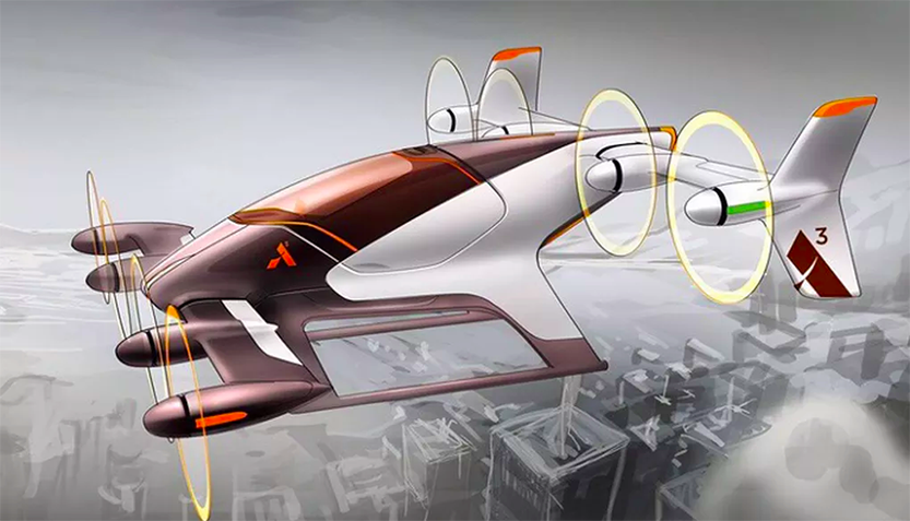 Airbusbus At Work on a Self Driving Airborne Taxi