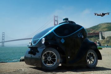 World's First Autonomous Security Vehicle with Companion Drone