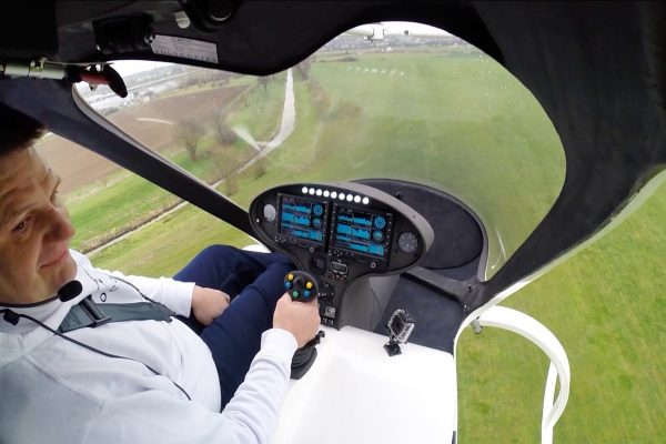 First manned Flight with the Volocopter